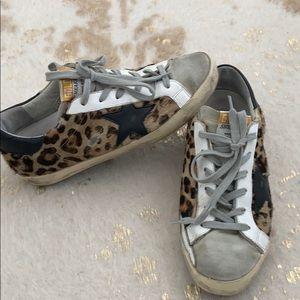 Golden Goose leopard hair Superstar sneakers